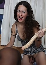 Naughty TS Nikki fucking Retro with big toys